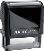 Ideal Self Inking Stamps in many sizes, ink colors and font styles.