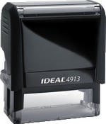Custom Self-Inking Stamps come in many sizes, ink colors and font styles.